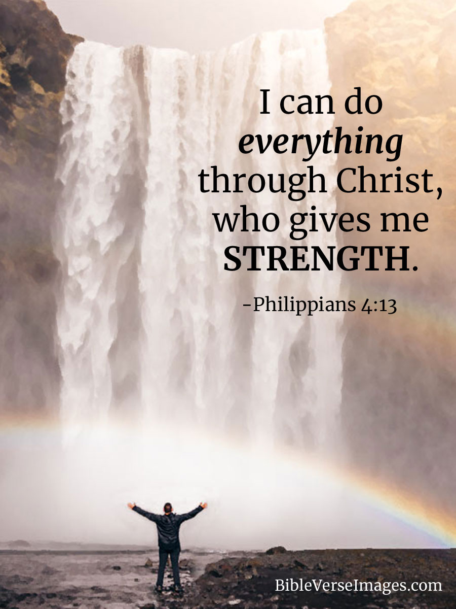 Philippians 4:13 - Bible Quote - Bible Verse Images