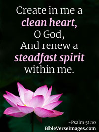 Bible Quote - Psalm Psalm 51:10