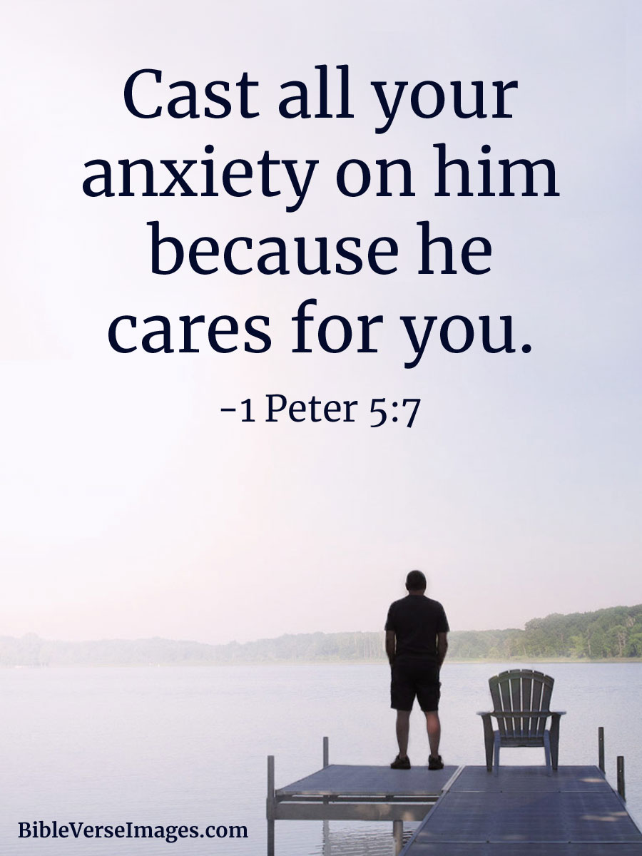 Bible Quote - 1 Peter 5:7