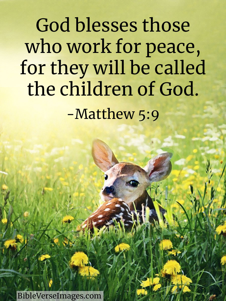 Matthew 5:9 - Bible Verse about Children