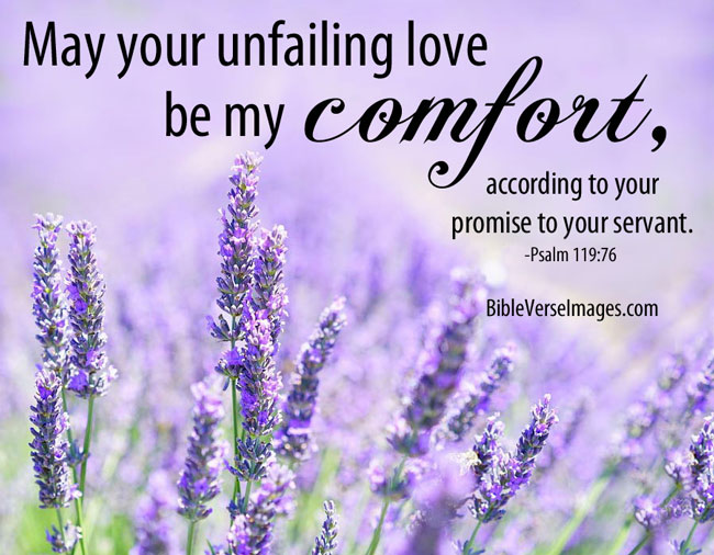 Comforting Bible Verse - Psalm 119:76