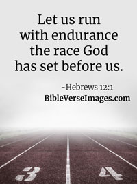Encouraging Bible Verse - Hebrews 12:1