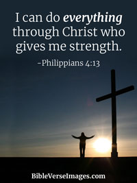 Encouraging Bible Verse - Philippians 4:13