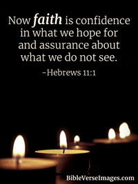 Faith Bible Verse - Hebrews 11:1