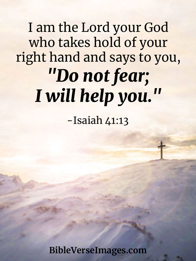 Bible Verse about Faith - Isaiah 41:13