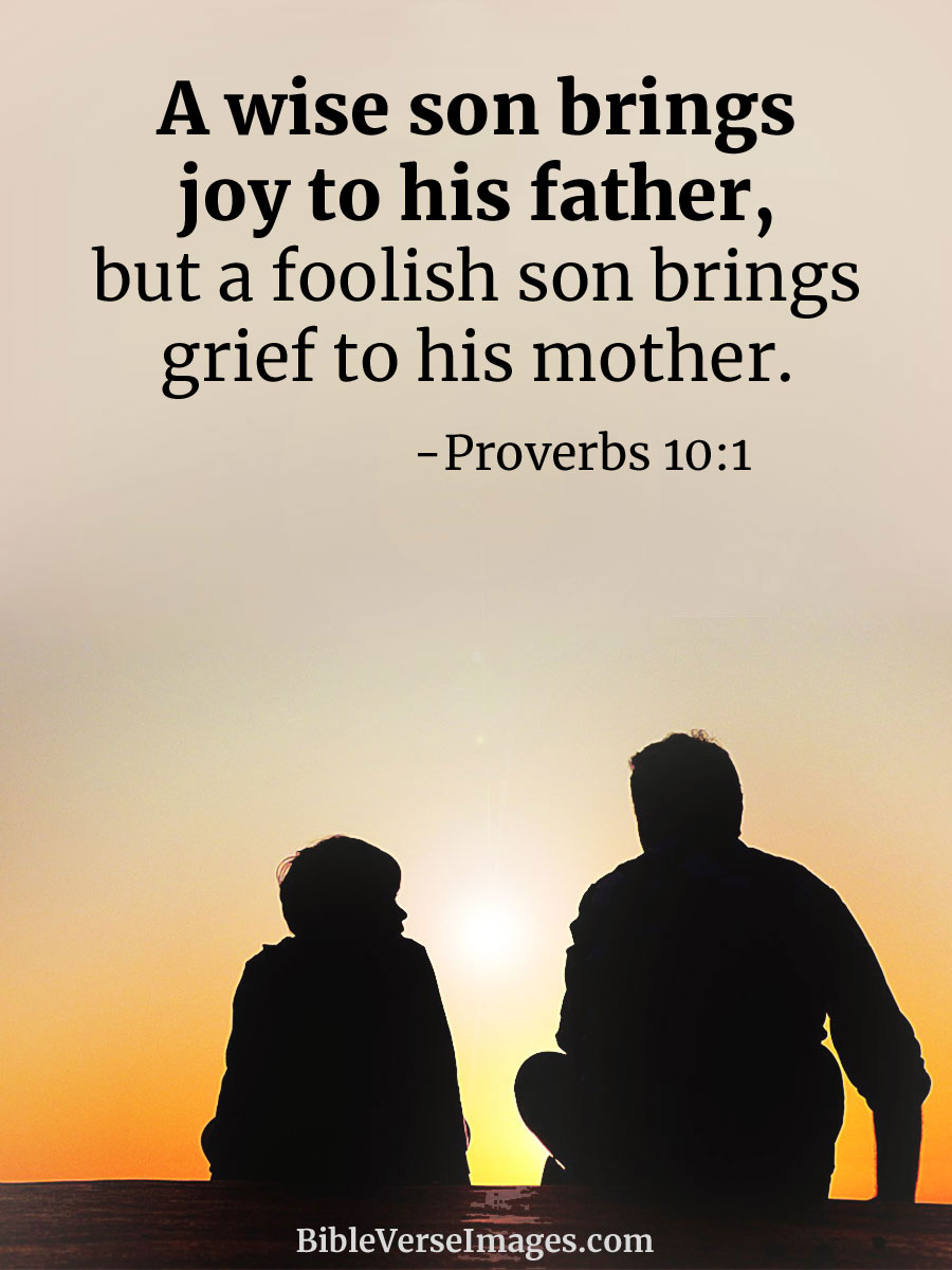 Proverbs 10:1 - Bible Verse about Family