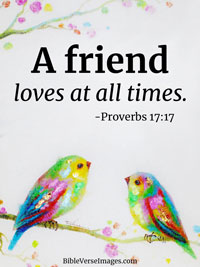 Bible Verse about Friendship - Proverbs 17:17