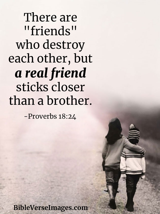 Bible Verse about Friendship - Proverbs 18:24