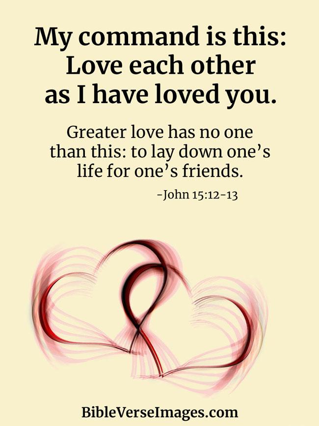 Bible Verse About Friendship John 15 12 13 Bible Verse
