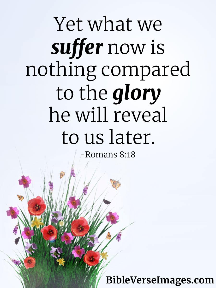bible verse about healing romans 8 18