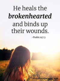 Bible Verse about Healing - Psalm 147:3