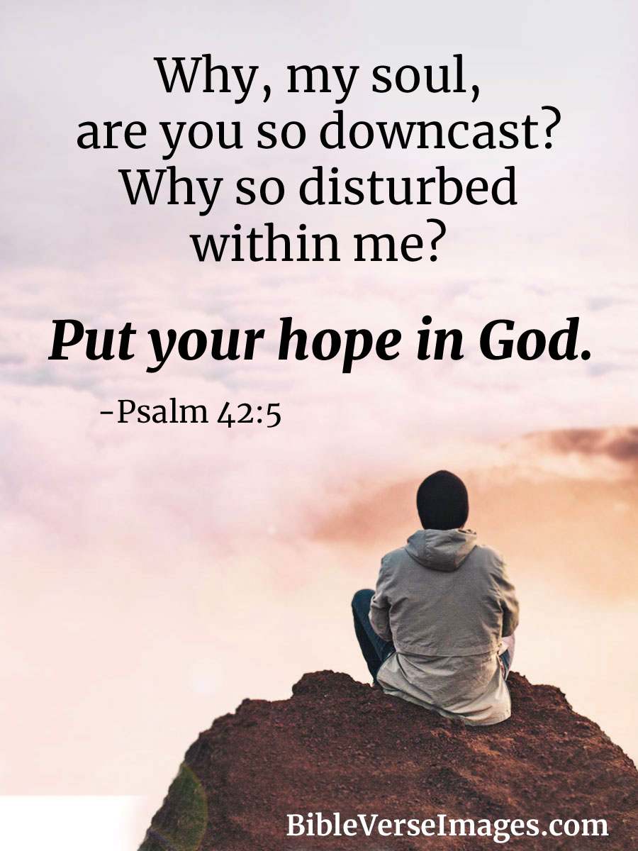 Psalm 42:5 - Bible Verse about Hope