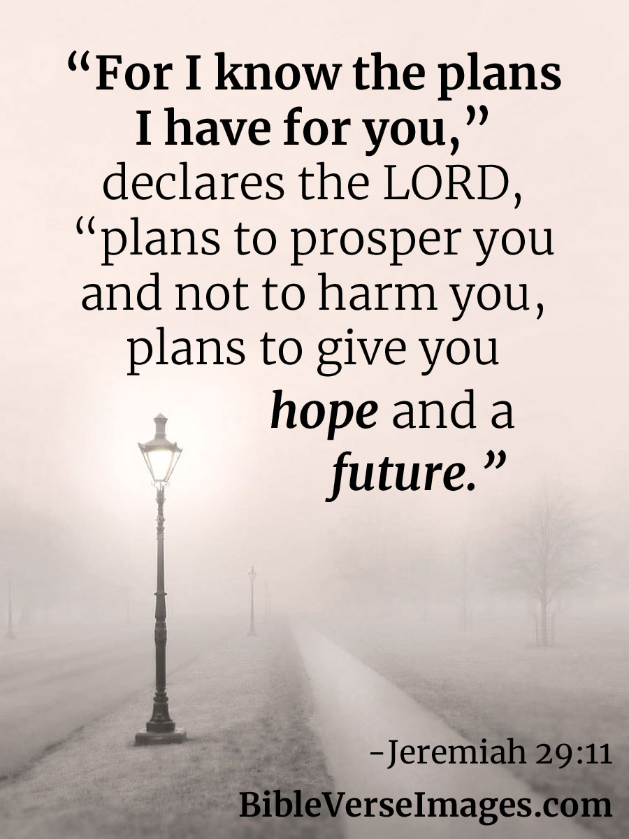 Bible Verse about Hope - Jeremiah 29:11