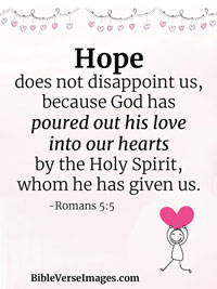 Hope Bible Verse - Romans 5:5