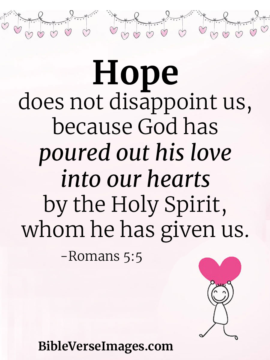 Bible Verse About Hope Romans 5 5 Bible Verse Images