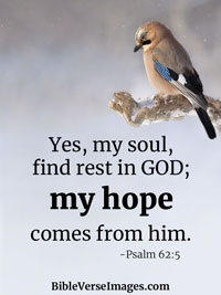 Hope Bible Verse - Psalm 62:5