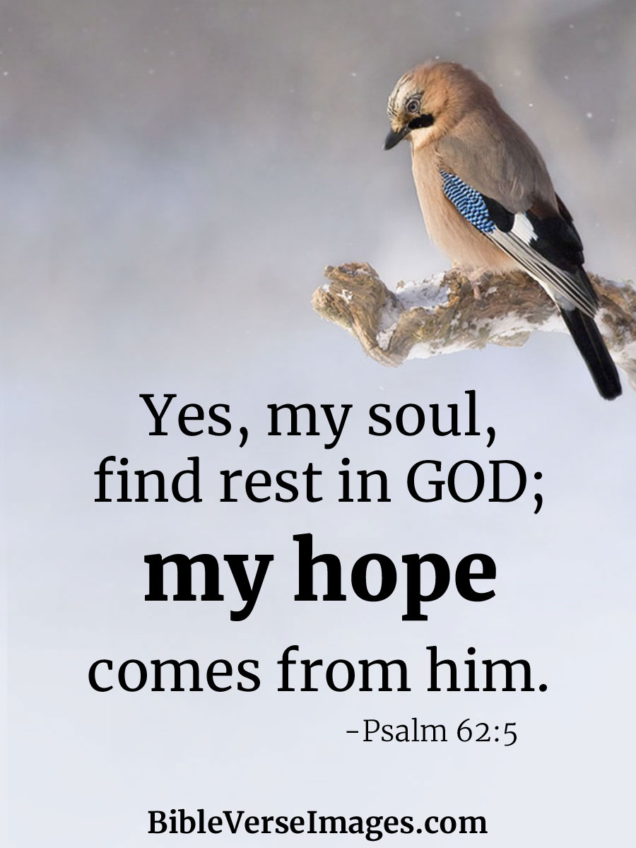 Psalm 62:5 - Bible Verse about Hope