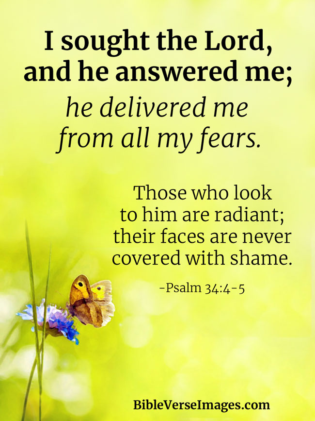 Inspirational Bible Verse - Psalm 34:4-5