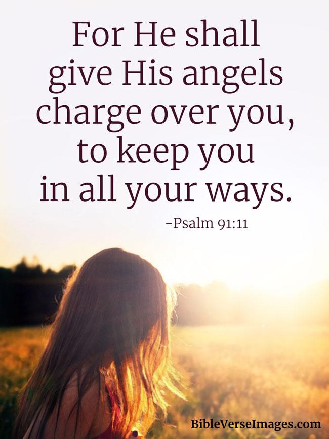inspirational bible verse psalm 91 11