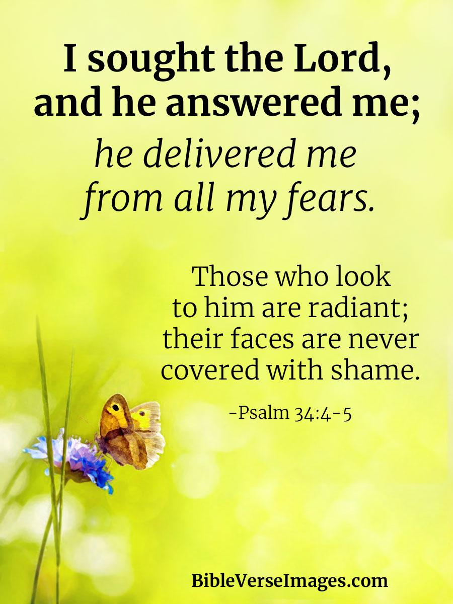 inspirational bible verse psalm 34 4 5