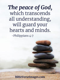 Inspirational Bible Verse - Philippians 4:7