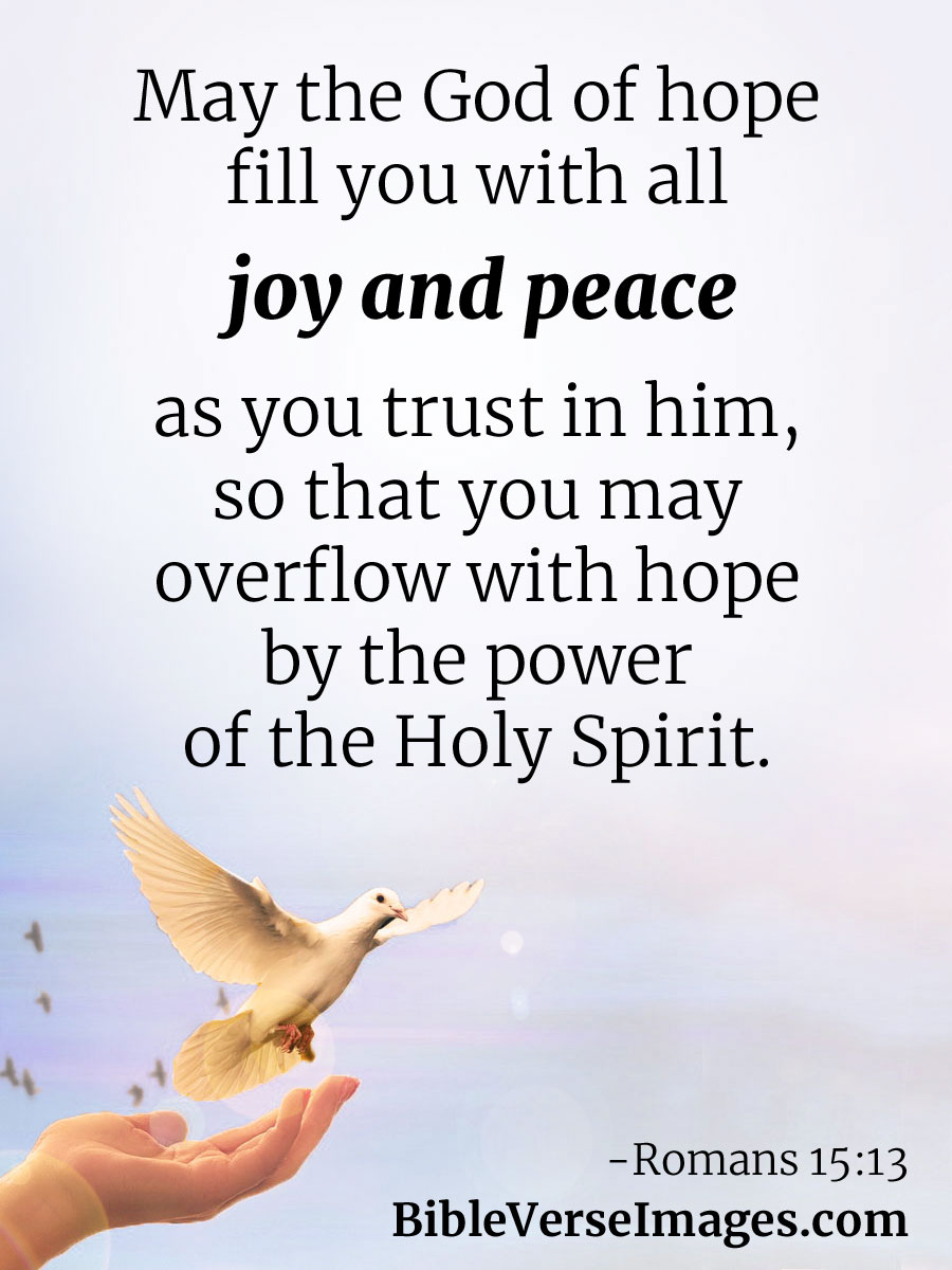 Bible Verse about Joy - Romans 15:13