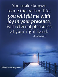 Joy Bible Verse - Psalm 16:11