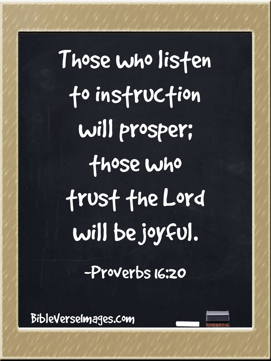Bible Verse about Joy - Proverbs 16:20