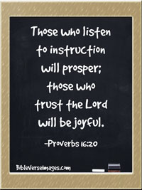 Joy Bible Verse - Proverbs 16:20