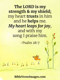 Joy Bible Verse - Psalm 28:7