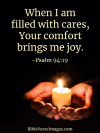 Joy Bible Verse - Psalm 94:19