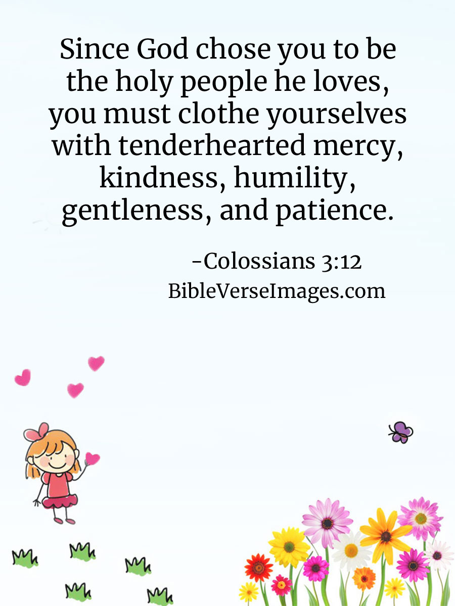Colossians 3:12 - Bible Verse about Kindness