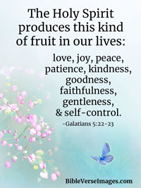 Kindness Bible Verse - Galations 5:22-23