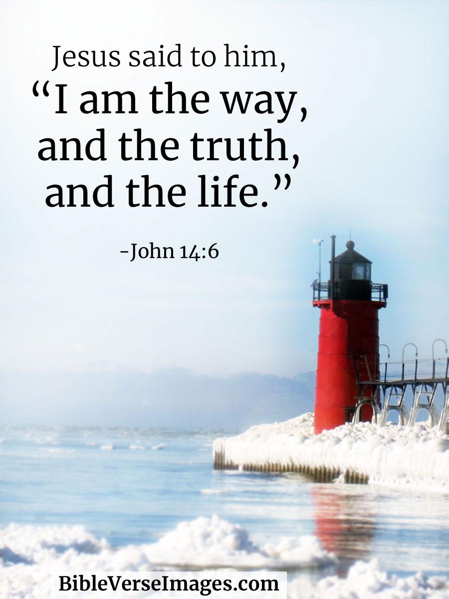 John 14:6 - Bible Verse about Life - Bible Verse Images