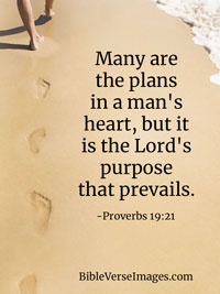 Life Bible Verse - Proverbs 19:21