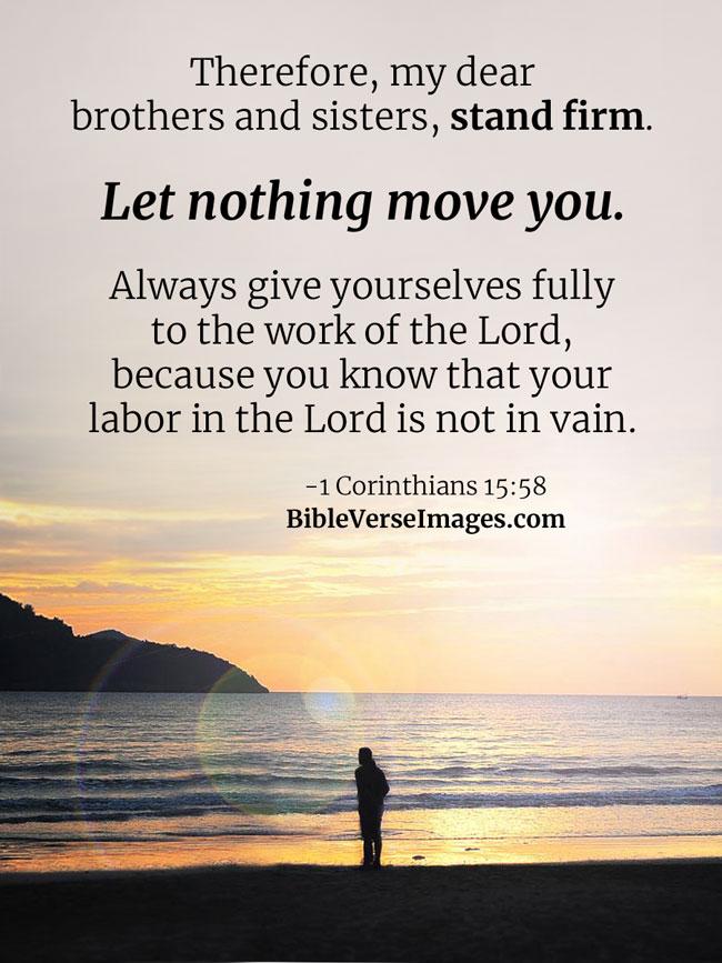 1 Corinthians 15:58 - Bible Verse about Life - Bible Verse Images