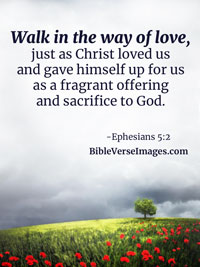 Love Bible Verse - Ephesians 5:2
