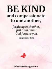Love Bible Verse - Ephesians 4:32