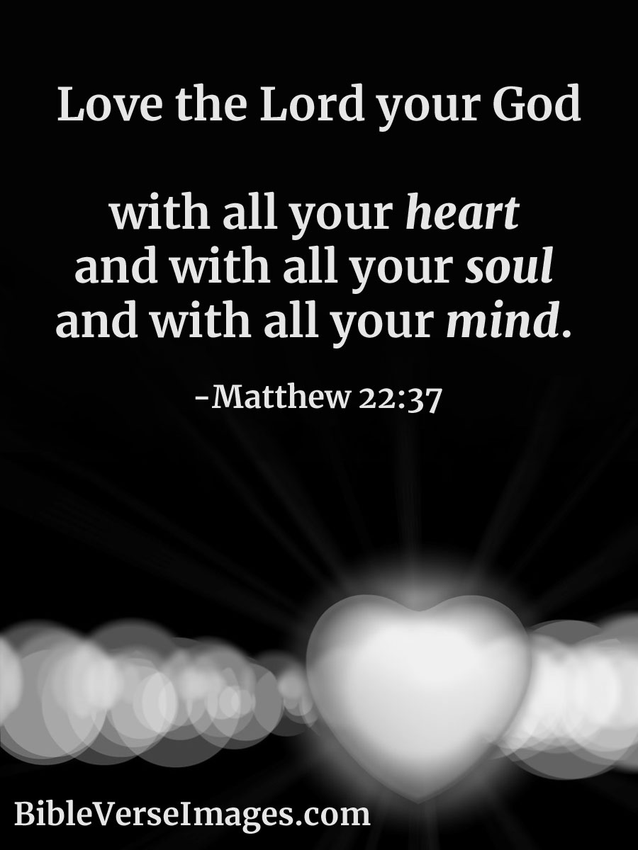 Matthew 22:37 - Bible Verse about Love