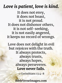 Bible Verse about Marriage - 1 Corinthians 13:4-8
