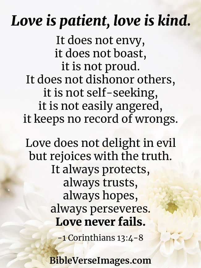 1 Corinthians 13:4-8 - Marriage Bible Verse
