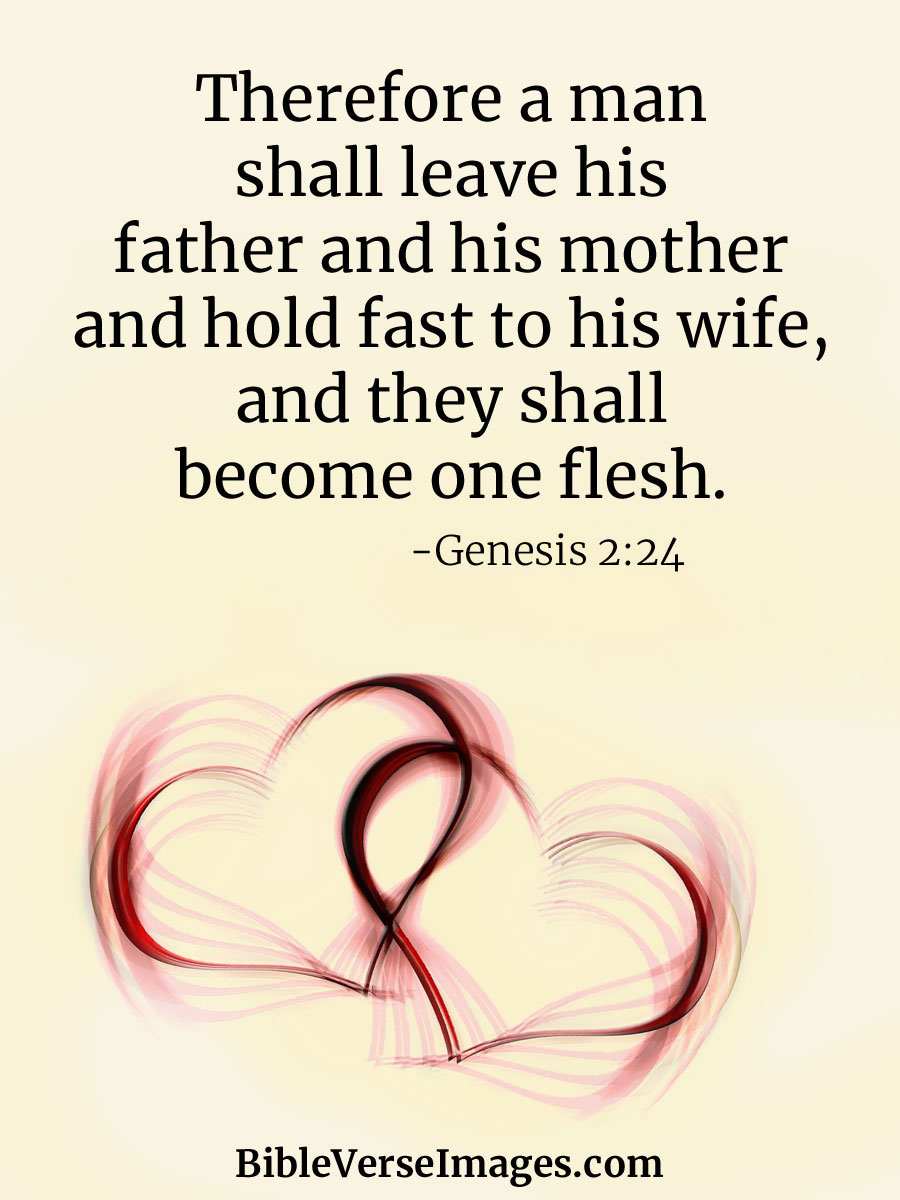 Bible Verse about Marriage - Genesis 2:24 - Bible Verse Images