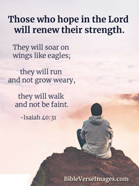 Strength Bible Verse - Isaiah 40:31