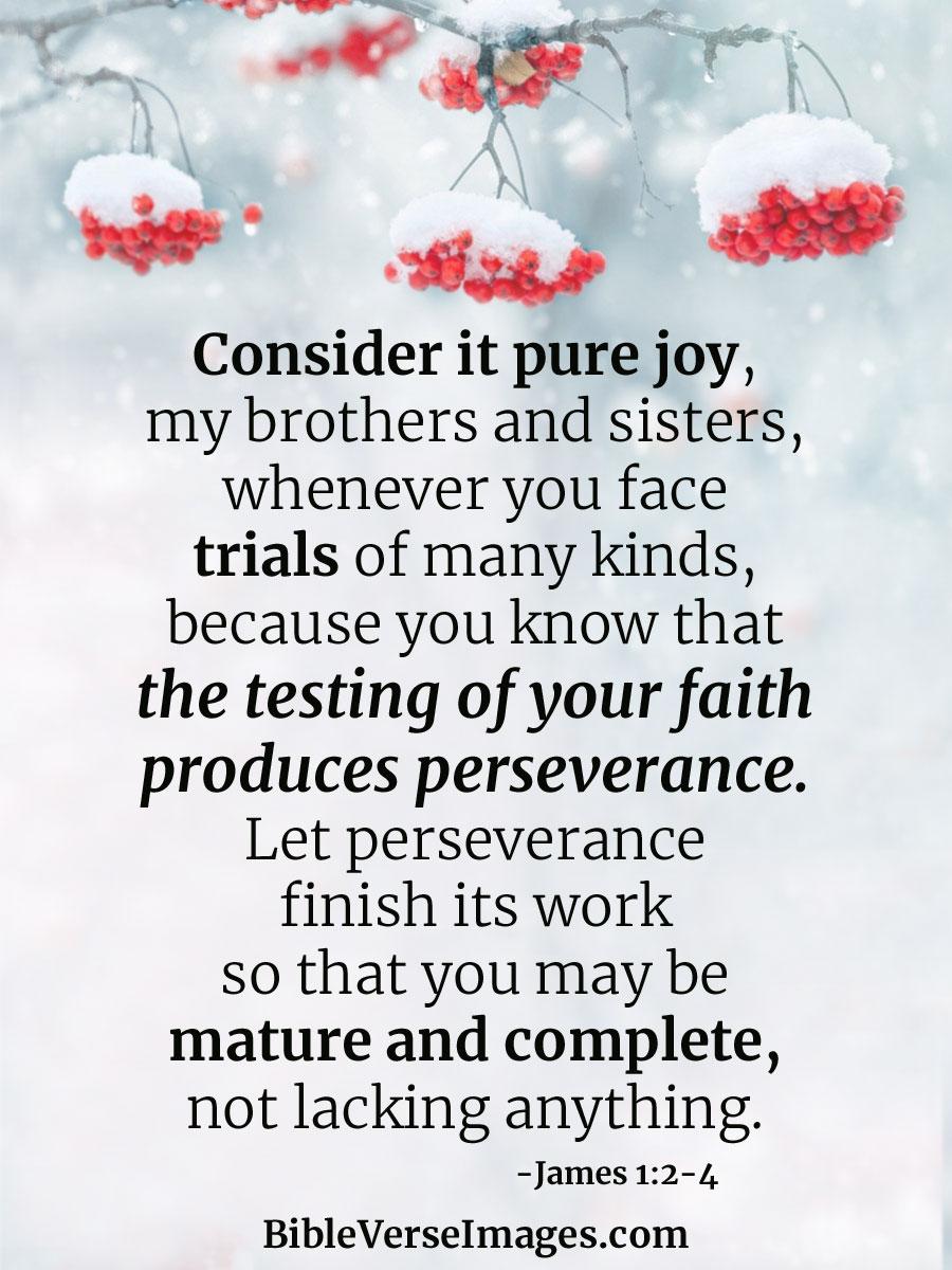 James 1:2-4 - Bible Verse for Stress - Bible Verse Images