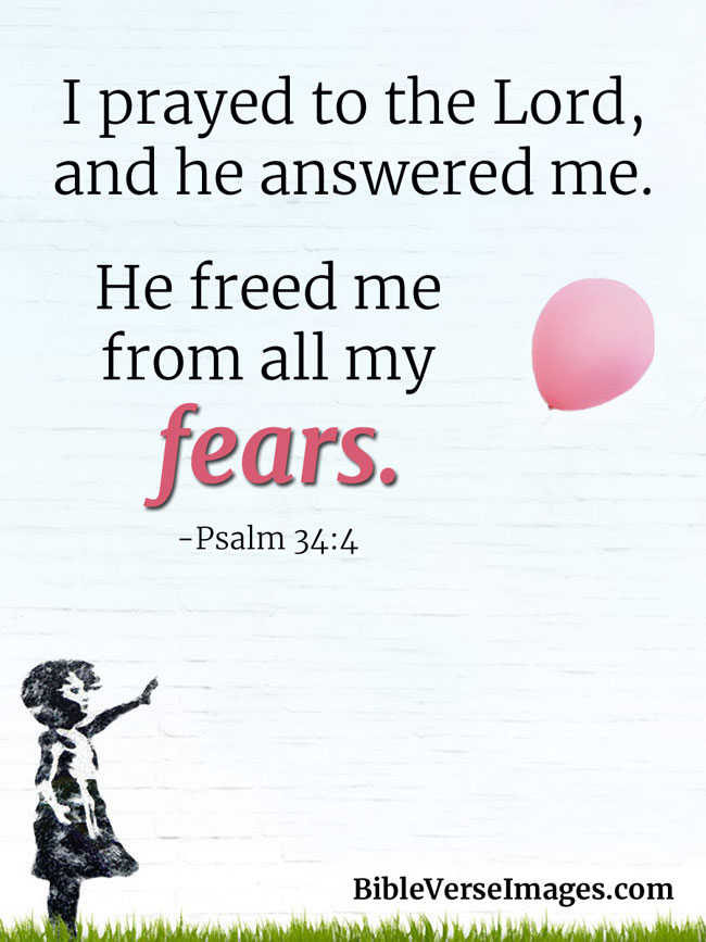 Bible Verse about Stress - Psalm 34:4