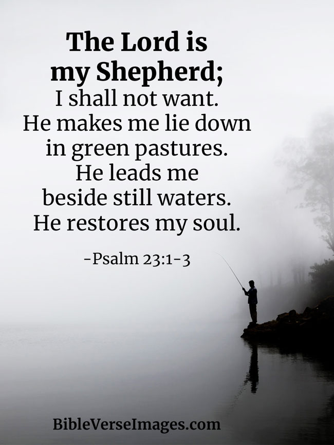 The Lord is my Shepherd Bible Quote