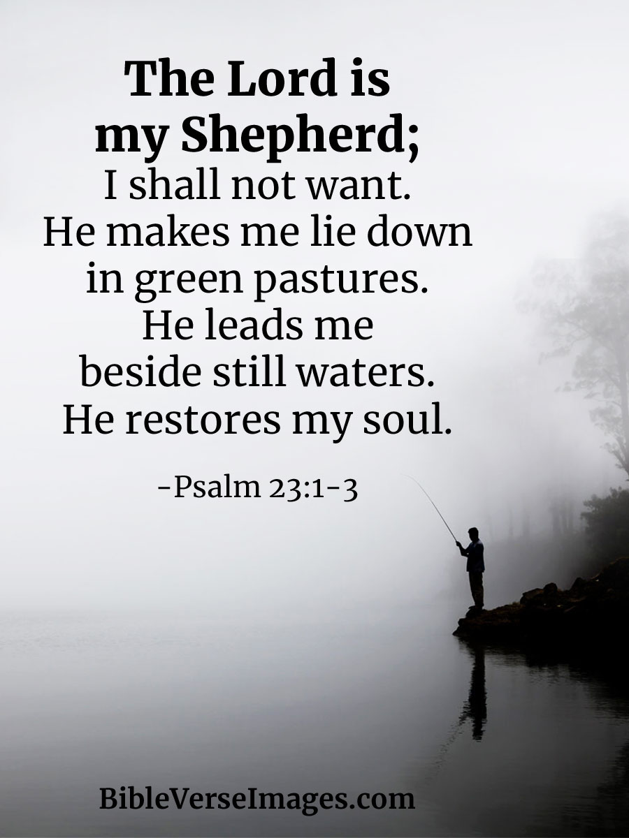 The Lord is my Shepherd - Bible Quote