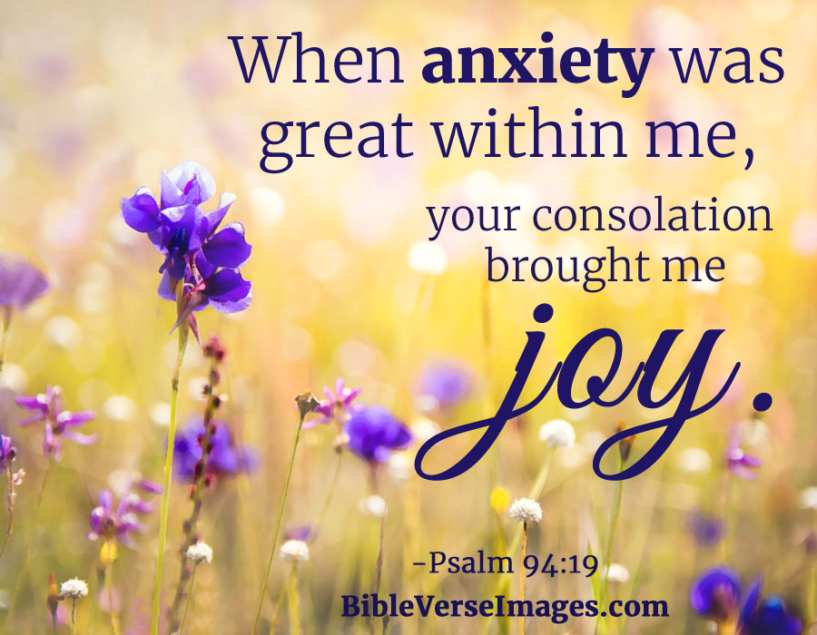Psalm 94:19 - Bible Verse about Worry